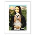 Mona Lisa / Cocker Spaniel Small Poster