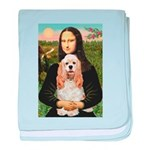 Mona Lisa / Cocker Spaniel baby blanket