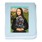 Mona's Black Cocker Spaniel baby blanket