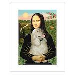 Mona Lisa /Cocker Spaniel Small Poster