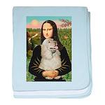 Mona Lisa /Cocker Spaniel baby blanket