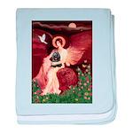 Angel / Cocker baby blanket