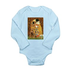 Kiss / Cocker (brn) Long Sleeve Infant Bodysuit