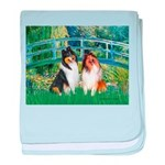 Bridge / Two Collies baby blanket
