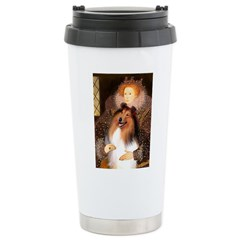 Queen / Collie (tri) Ceramic Travel Mug