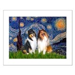 Starry Night / Collie pair Small Poster