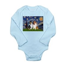 Starry Night / Collie pair Long Sleeve Infant Body