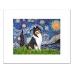 Starry Night / Collie (tri) Small Poster