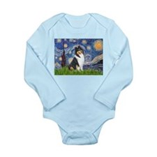 Starry Night / Collie (tri) Long Sleeve Infant Bod
