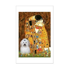 The Kiss / Coton Mini Poster Print