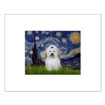Starry Night Coton de Tulear Small Poster
