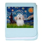 Starry Night Coton de Tulear baby blanket