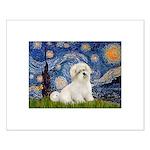 Starry / Coton de Tulear (#7) Small Poster
