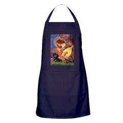 Mandolin Angel & Doxie (BT) Apron (dark)