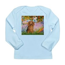 Garden -Dachshund (LH-Sable) Long Sleeve Infant T-