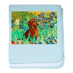 Irises & Dachshund baby blanket