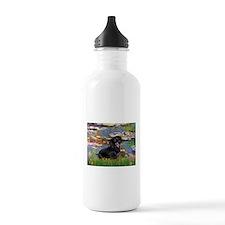 Lilies (2) & Dachshund Water Bottle