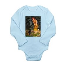 Fairies / Dachshund Long Sleeve Infant Bodysuit