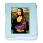 Mona / Dachshund (wire) baby blanket