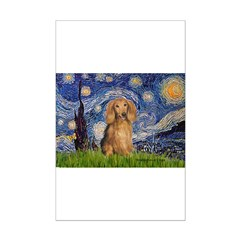 Starry / Doxie (LH-Sable) Mini Poster Print