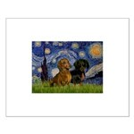 Starry Night Doxie Pair Small Poster