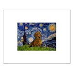 Starry / Dachshund Small Poster