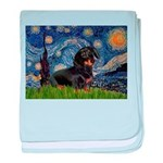 Starry Night Dachshund baby blanket