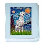 Starry / Dalmatian #1 baby blanket