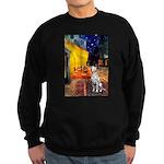 Cafe / Dalmatian #1 Sweatshirt (dark)