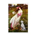 Windflowers / Dalmatian #1 Mini Poster Print