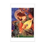Mandolin Angel & Dobie Mini Poster Print