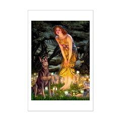 Fairies & Red Doberman Posters