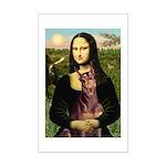 Mona's Red Doberman Mini Poster Print