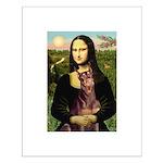 Mona's Red Doberman Small Poster