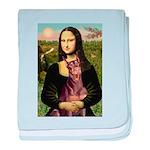 Mona's Red Doberman baby blanket