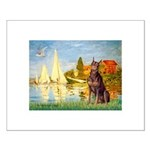 Regatta / Red Doberman Small Poster