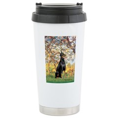Spring / Doberman Ceramic Travel Mug