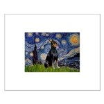 Starry Night Doberman Small Poster