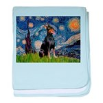 Starry Night Doberman baby blanket
