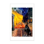 Cafe & Doberman Mini Poster Print