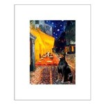 Cafe & Doberman Small Poster