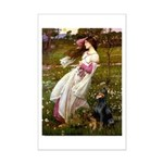 Windflowers / Doberman Mini Poster Print