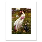 Windflowers / Doberman Small Poster