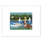 Sailboats /English Bulldog Small Poster