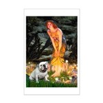 Fairies / English Bulldog Mini Poster Print