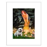 Fairies / English Bulldog Small Poster