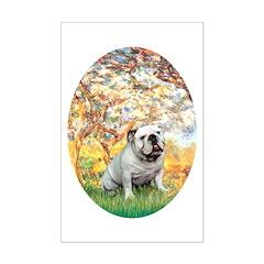 Spring/ English Bulldog (#9) Mini Poster Print