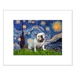 Starry Night English Bulldog Small Poster