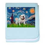 Starry Night English Bulldog baby blanket