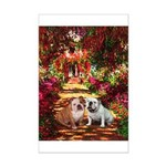 The Path / Two English Bulldogs Mini Poster Print